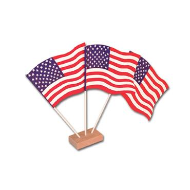 USA Table Flags 15cm (Pack of 12)