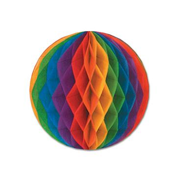 "Pride Rainbow Tissue Ball 12"""