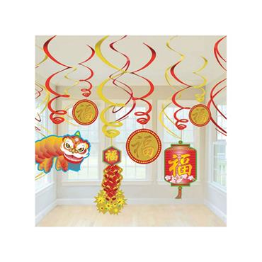 Chinese Swirls 13cm to 23cm (Pack of 12)