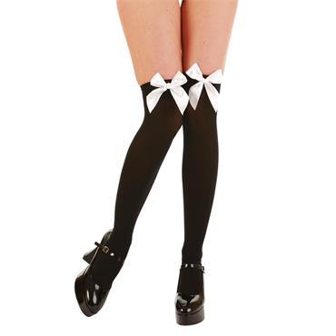 Black Thigh Highs / White Sati