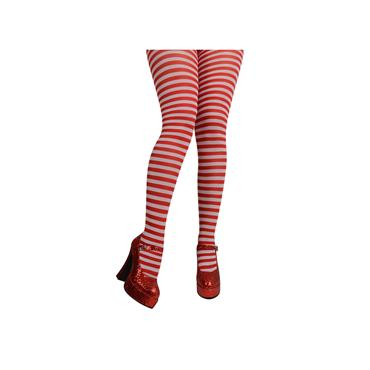 Red & White Candystripe Tights