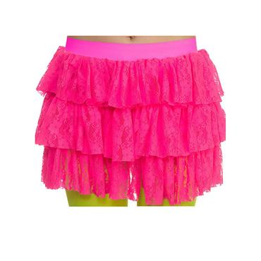 80's Lacey Ra-Ra Skirt - Black