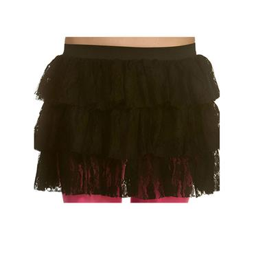 80's Lacey Ra-Ra Skirt - Hot Pink