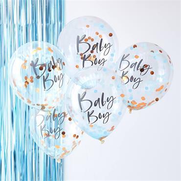Rose Gold & Blue Baby Boy