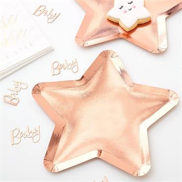 Star Plates Rose Gold