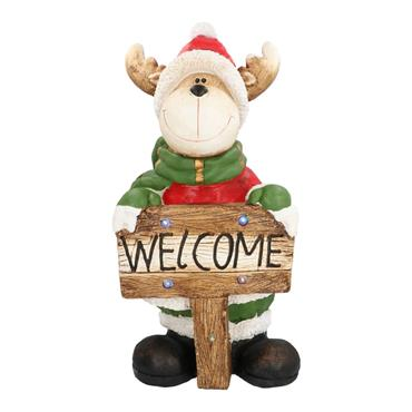Christmas Reindeer with Welcome Sign - 72cm