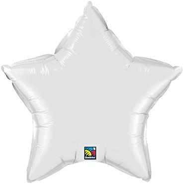 "White Star Foil Balloon 19"""