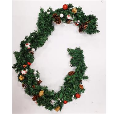 Woodland Christmas Garland - 2.5m