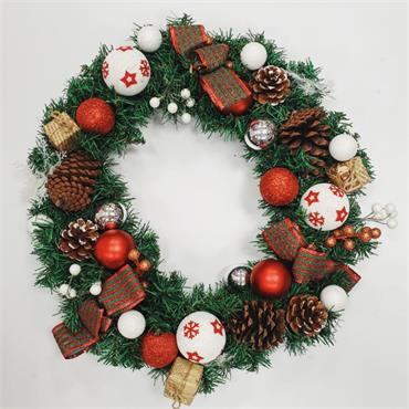 Christmas Woodland Wreath - 77cm