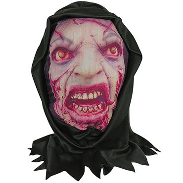 Zombie Skin Mask with Hood