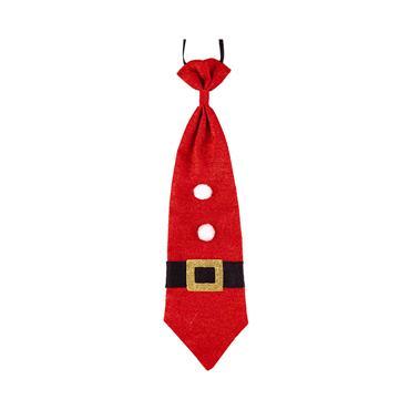 Glitter Christmas Tie - Santa