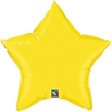 "Yellow Star Foil Balloon 19"""