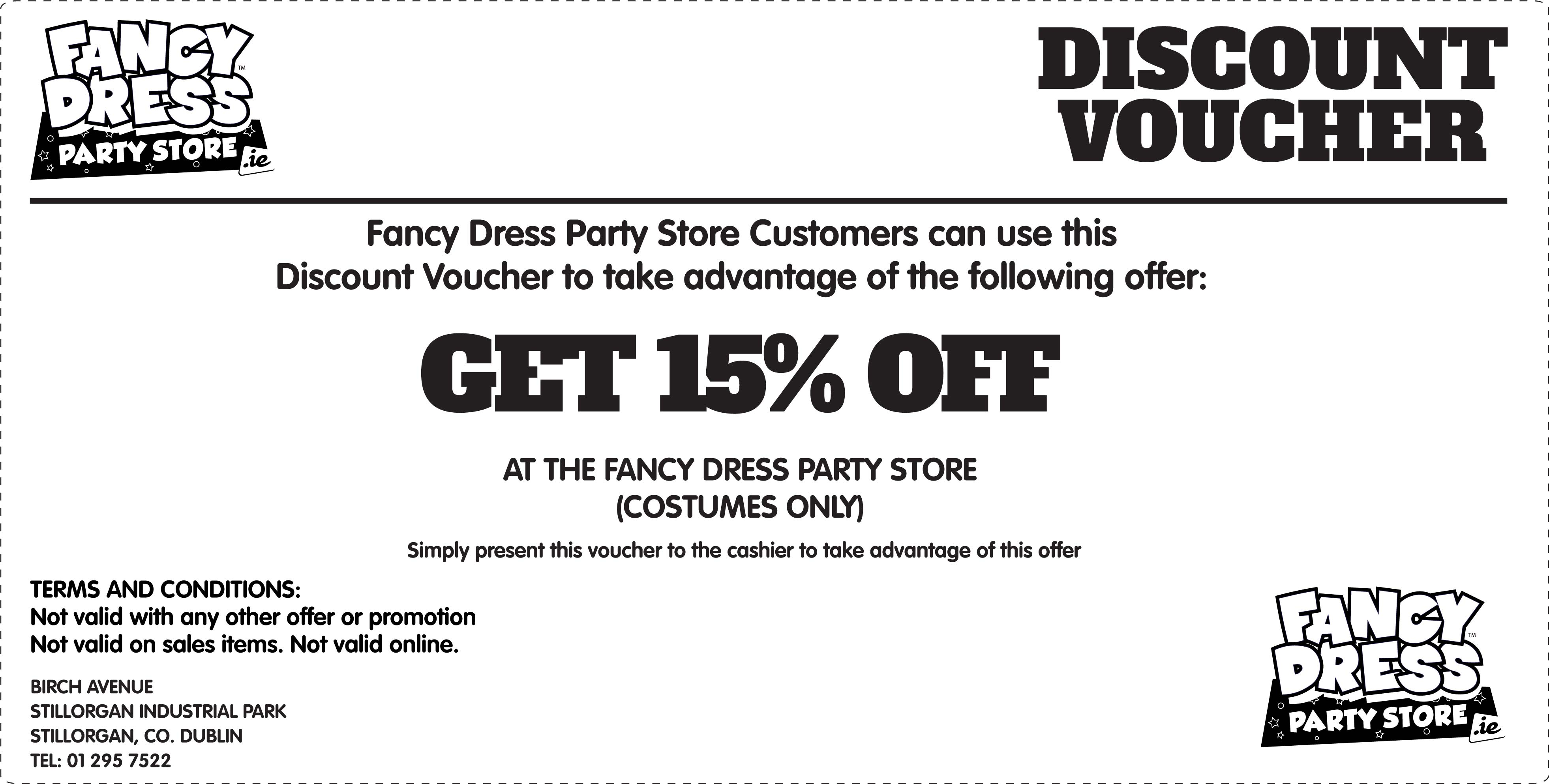 15% off In Store Only Voucher