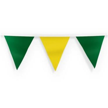 Donegal Gaa Green/Gold 10M Bunting - Yellow