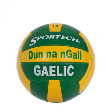 SPORTECH DONEGAL GAELIC BALL SIZE 5 - GREEN/YELLOW