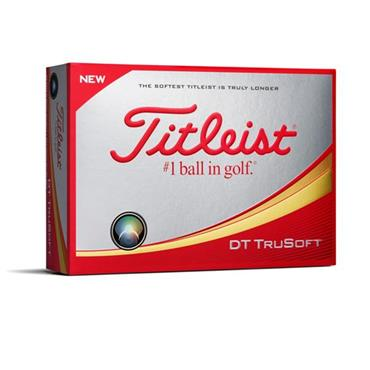 TITLEIST DT TRUSOFT GOLF BALLS SET OF 12 - WHITE