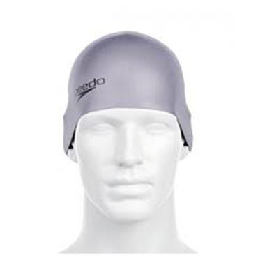 Speedo Adults Silicone Swim Cap - Grey