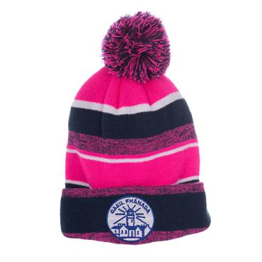 FANAD GAELS BOBBLE HAT - NAVY/PINK