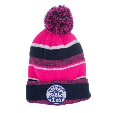 Fanad Gaels GAA Bobble Hat - Navy/Pink