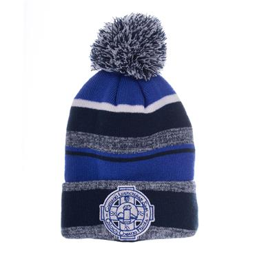 CLOUGHANEELY BOBBLE HAT - BLUE