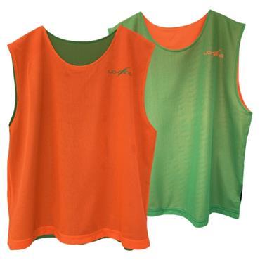 Lee Sports Senior Reversible Bibs - Orange/Green
