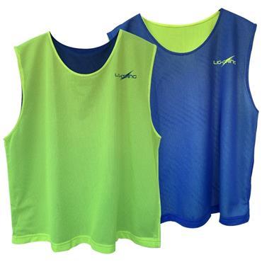 Lee Sports Junior Reversible Bibs - Blue/Yellow