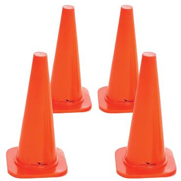 "Precision 18"" Traffic Cones Set of 4 - Orange"