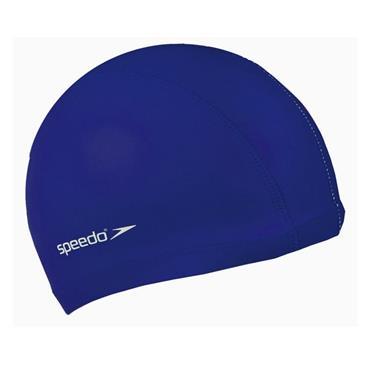 Speedo Junior Polyester Swim Cap - BLUE