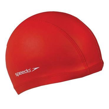 Speedo Junior Polyester Swim Cap - Red