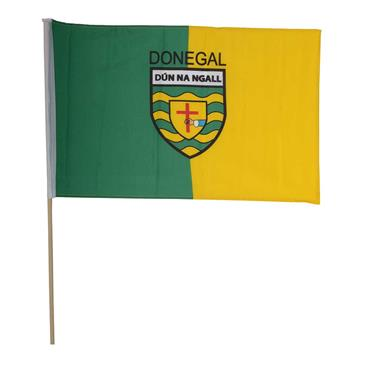 Donegal GAA Handheld Flag - Green