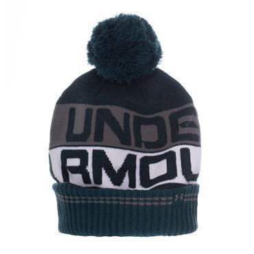 UNDER ARMOUR RETRO BOBBLE HAT - GREEN/GREY