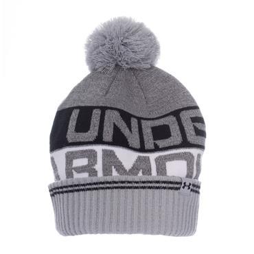 UNDER ARMOUR RETRO BOBBLE HAT - GREY/WHITE