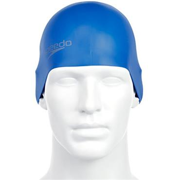 Speedo Adults Silicone Swim Cap - Blue