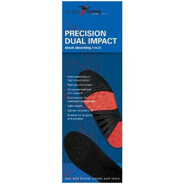Precision ISO Gel Dual Impact Insoles - BLACK