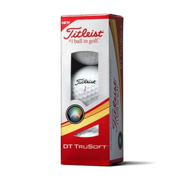 TITLEIST DT TRUSOFT GOLF BALLS SET OF 12 - WHITE