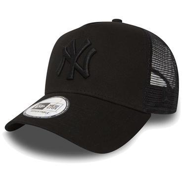 NEW ERA CLEAN TRUCKER BASEBALL CAP - BLACK