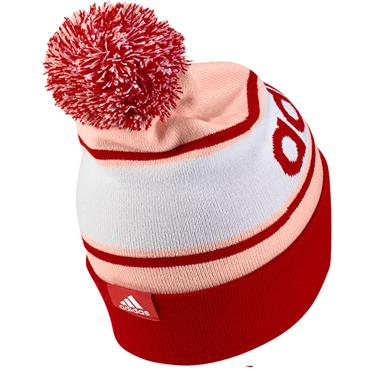 Adidas Womens Bobble Hat - Pink/Red