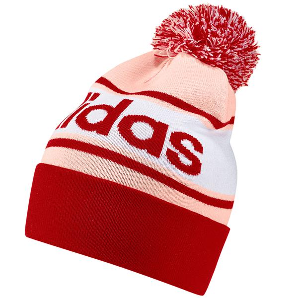 ADIDAS WOMENS BOBBLE HAT - PINK RED  334da07e493