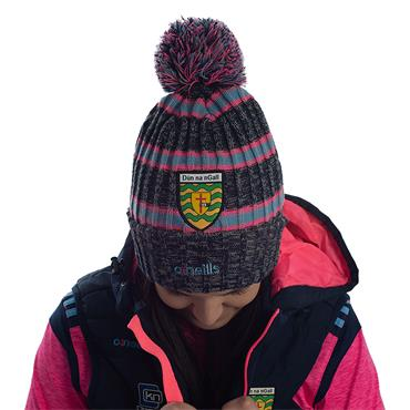 ADULTS DONEGAL BOBBLE 83 HAT - MARINE/PINK/BLUE