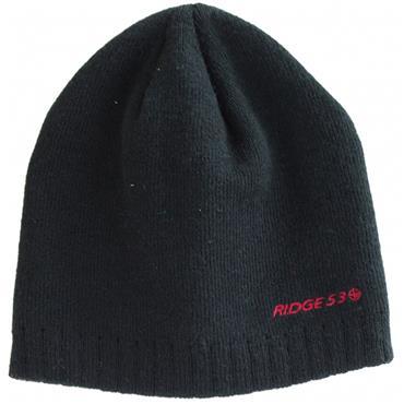 RIDGE 53 APEX BEANIE - BLACK