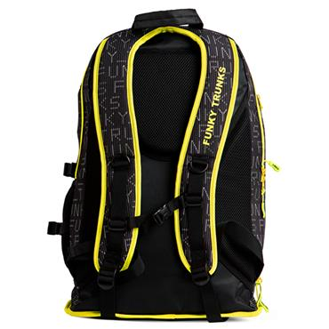 Funky Trunks Elite Squad Binary Backpack - Black/Yellow