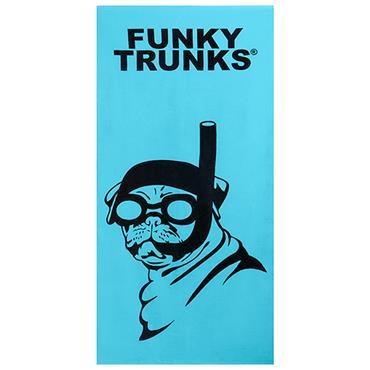 FUNKITA FUNKY TRUNKS SNORKEL PUG TOWEL - BLUE