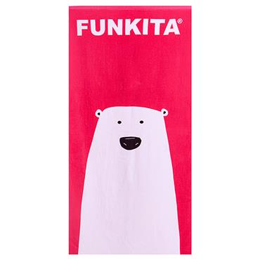 FUNKITA STARE BEAR TOWEL - PINK