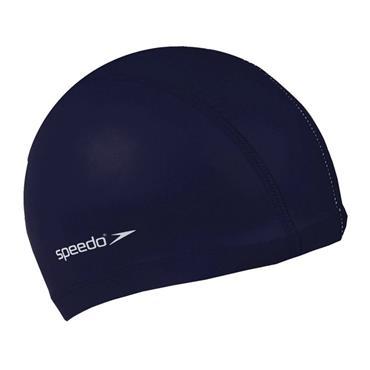 Speedo Adults Polyester Swim Cap - Navy