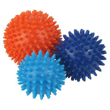 Urban Fitness Spiky Massage Balls Set of 3 - Multi Coloured