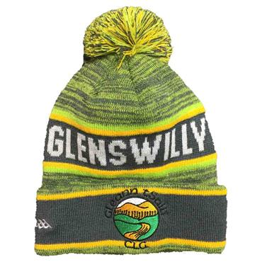GLENSWILLY BOBBLE HAT 2019 - GREEN/AMBER