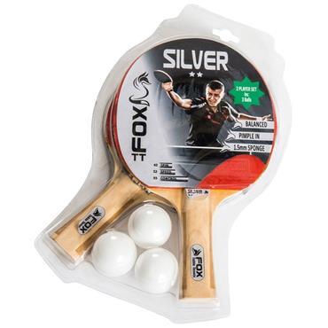 FOX SILVER 2 PLAYER TABLE TENNIS SET - Black/White