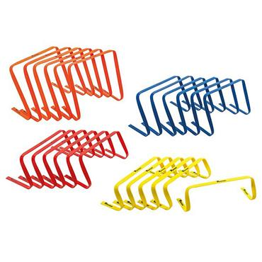 "Precision 9"" Flat Hurdles Set of 6 - Red"
