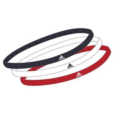 Adidas 3 Pack Headband - Red/White/Black