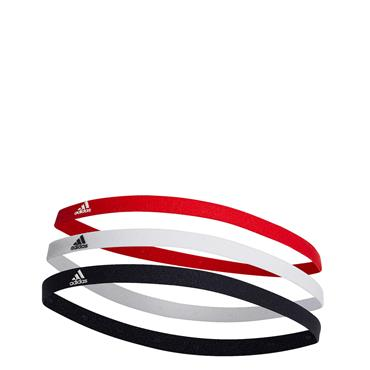 Adidas 3 Pack Headband - Red/White/Black